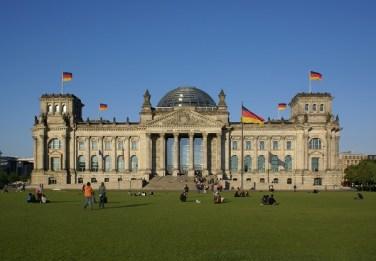 Il palazzo del Reichstag, sede del Parlamento tedesco
