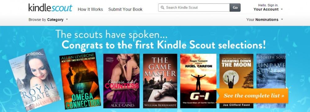 59e42db02308aa Partiti i pre-ordini per i primi titoli Amazon Kindle Scout