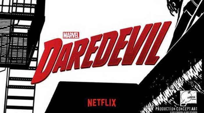 Il logo di Daredevil, serie TV prodotta da Netflix