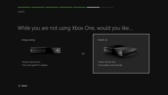 Xbox opzioni energia