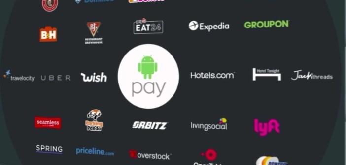 Ecco alcune delle compagnie che supportano Android Pay