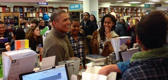 """Anche Obama e famiglia ogni tanto fanno acquisti """"local"""""""