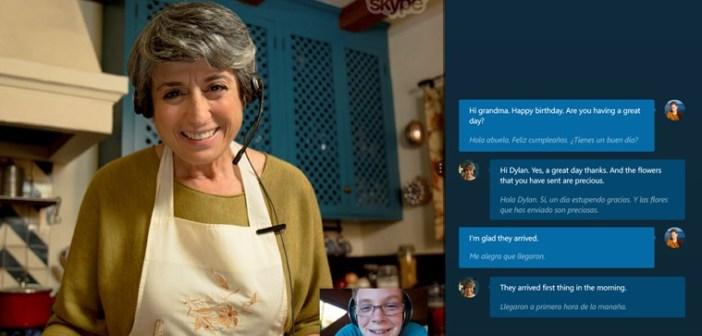 Uno screenshot di Skype Translator