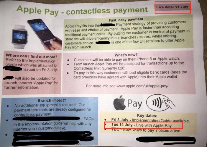 Apple Pay nel Regno Unito - Gamobu
