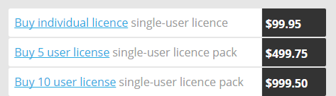 I prezzi di PDF OCR per desktop