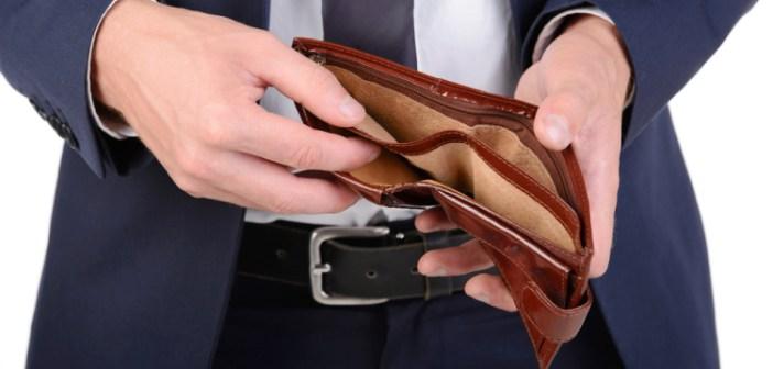 Un portafoglio vuoto