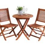 Gamoni De Ich Liebe Meinen Garten Cordoba Set Mit Tisch Rund 65 Cm Und 2 Stuhlen