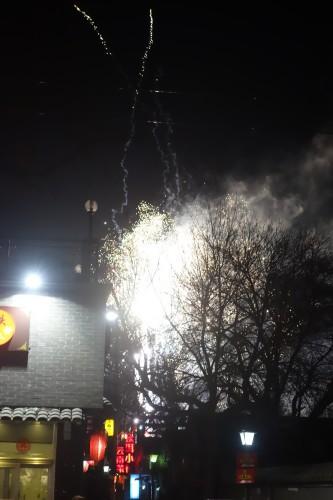 Dernier jour du nouvel an chinois, ca pete de partout, du toit de ma chambre y compris... un beau souvenir!
