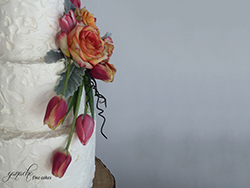 Stucco Buttercream Wedding Cake
