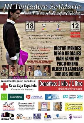 Tentadero público solidario de Torrejón de Ardoz con la participación de la Ganadería San Isidro
