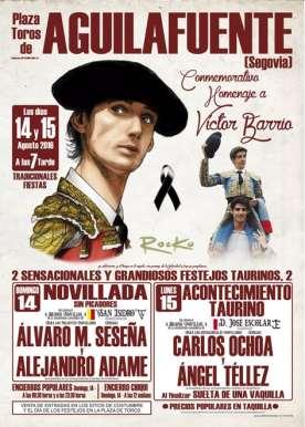 Cartel Novillada Aguilafuente 2016 Homenaje Victor Barrio
