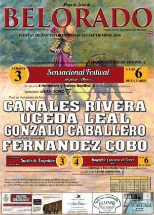 cartel de la novillada de belorado de la Ganaderia San Isidro