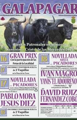 Cartel novillada Mixta Galapagar 2016