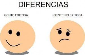 diferencias entre la gente exitosa y la no exitosa