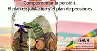 Complementar la pensión plan de jubilación plan de pensiones
