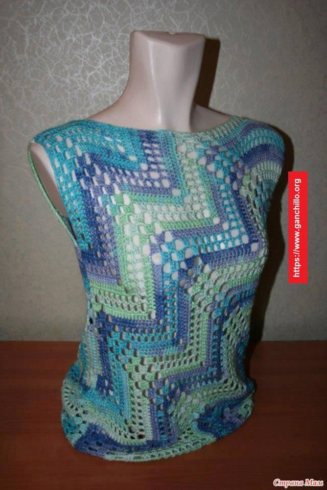 Blusa diseño diagonal