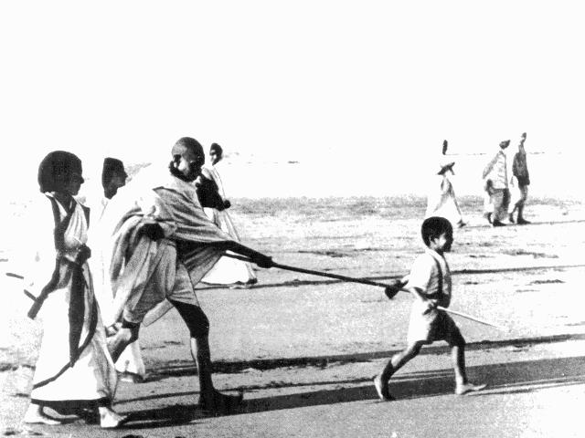 Gandhiji With His Grandson