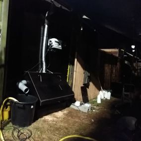 Zone technique du container