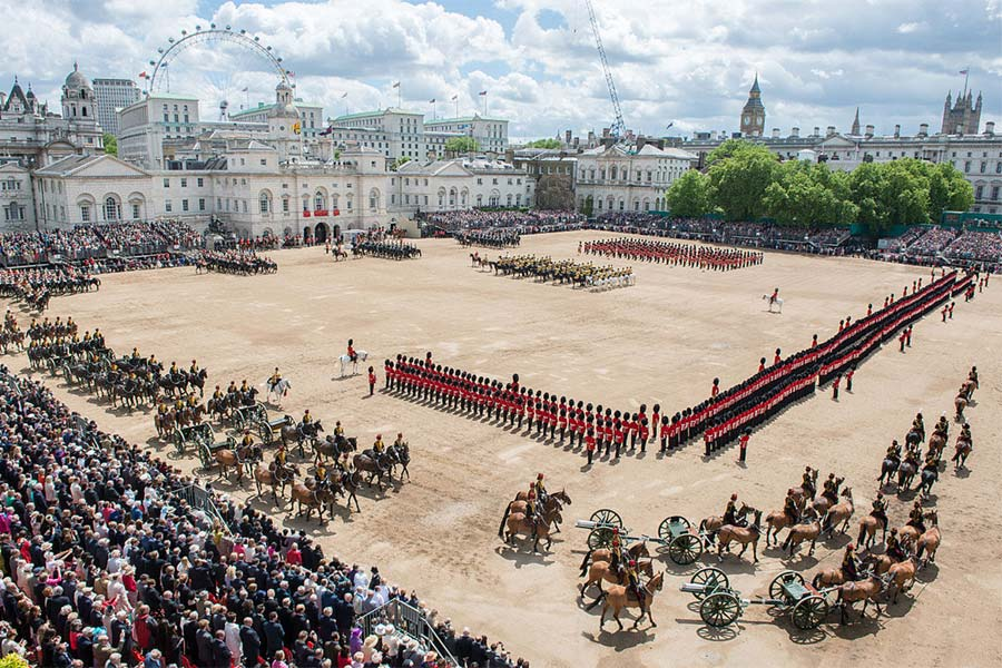 An image of Trooping the Colour - book a chauffeur to this event from GandT Executive