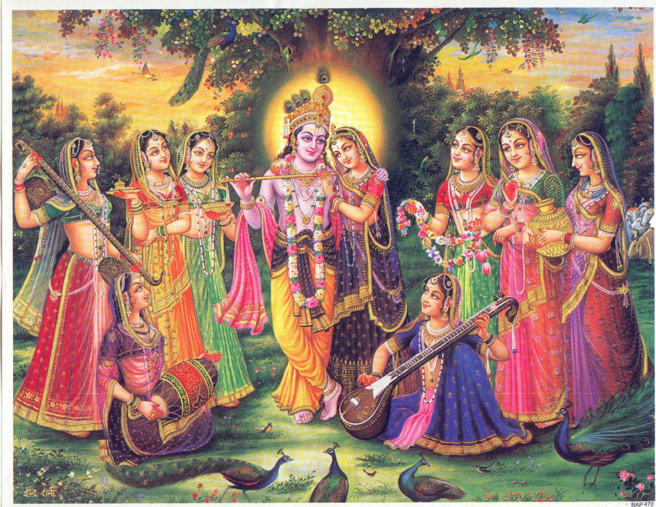 Krishna Wallpaper: This wallpaper of Namita is . Lord Krishna Janmashtami.