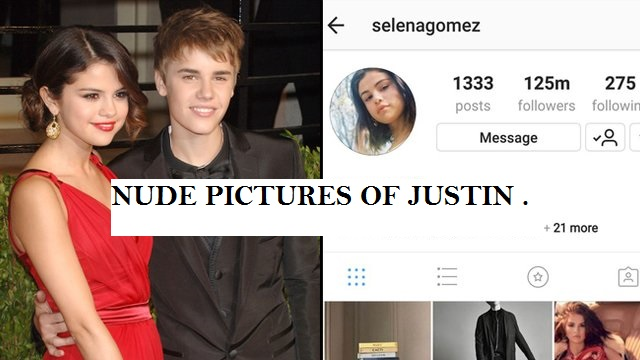 Private pics of justin leaked by salena gomez