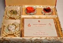 Wedding Card Of Mukesh Ambani Son's Cost Rs.1.5 Lakh Only? Here is The First Look! Click here to see the exclusive video .
