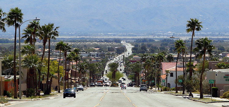 A main street in Desert Hot Springs, California.