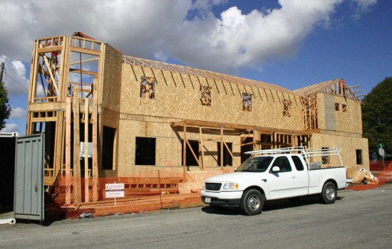 under construction new home addition