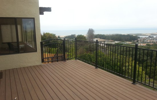 beautiful view from new second story deck