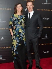 Benedict Cumberbatch and his fiance, Sophie Hunter,