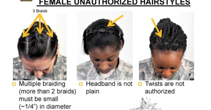 black female troops say grooming rule 'racially biased'