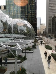 The view from Amazon's 1st headquarters in the city center