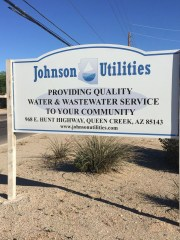 Johnson Utilities  has about 23,000 water  and 35,000
