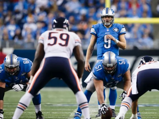 Image result for matthew stafford vs. bears