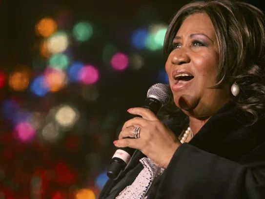 Aretha Franklin performs during the 85th annual Christmas