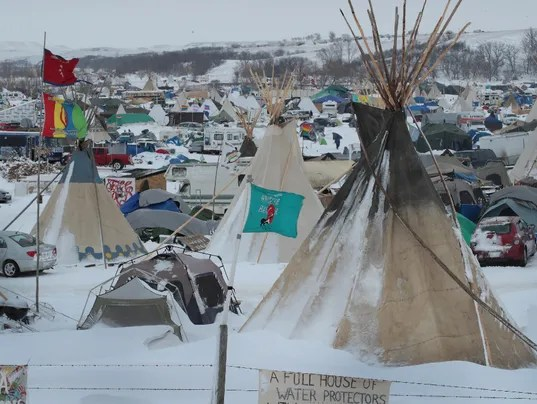 Pipeline protest site. (Getty Images via USA Today)