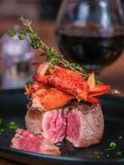 Crab and steak at Hand Cut Chophouse.