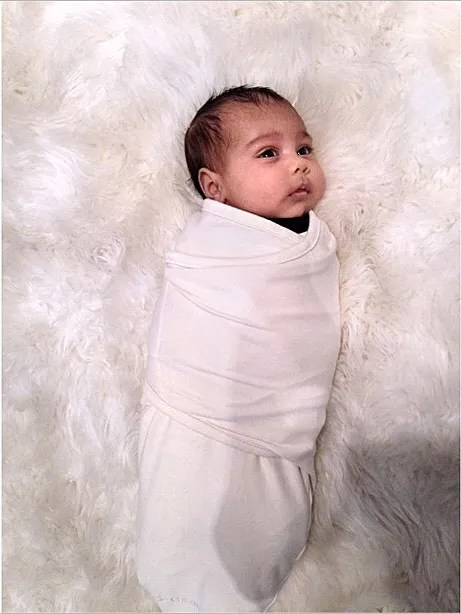Kardashian posted this photo of baby North on Instagram on Oct. 4, 2013. To date, Mom and Dad have not sold baby photos of their firstborn.