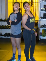 """Dreamer"" Maxima Guerrero (right, with Carla Chavarria) launched Ganaz Apparel, an activewear line, in 2016."