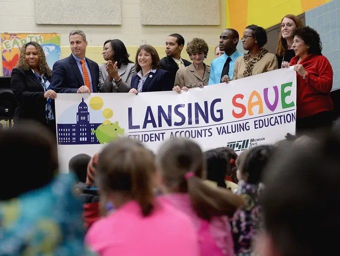 Officials with the city of Lansing, the Lansing School