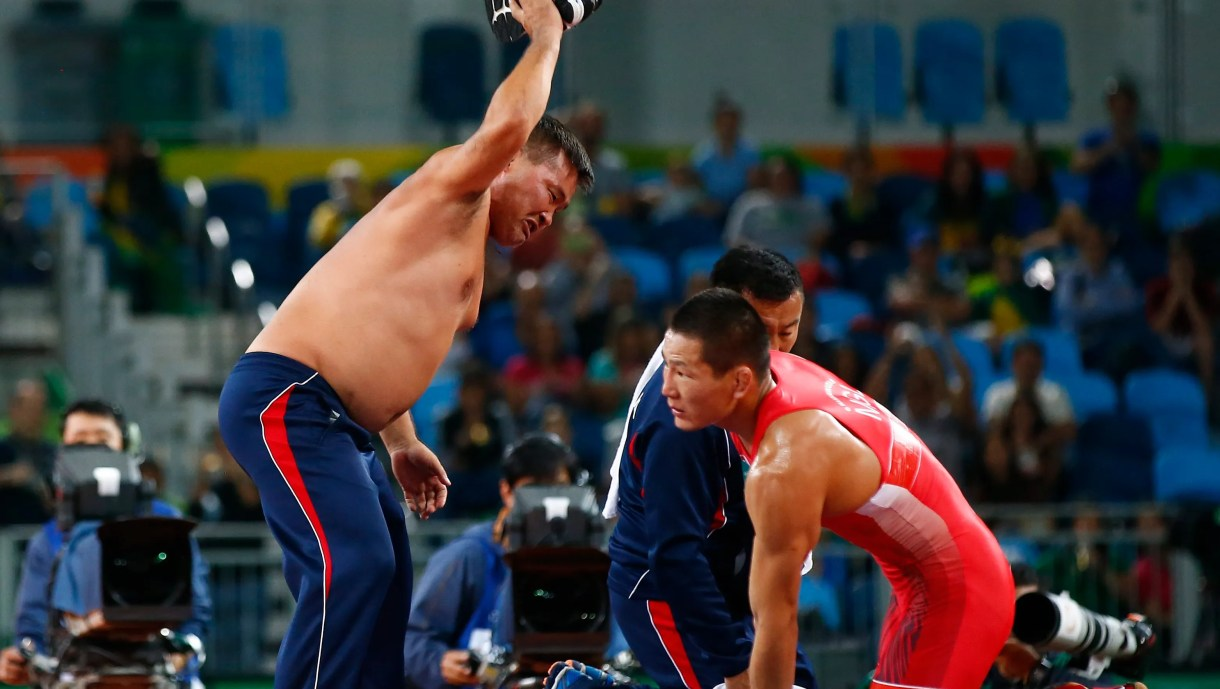 Mongolian wrestling coaches banned 3 years for stripping at Rio Olympics