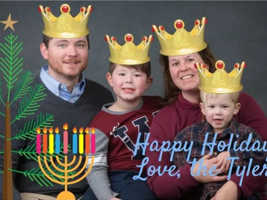 The Tyler Family's holiday card this year features