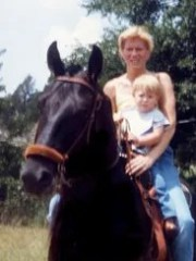 In 1987, Jacqueline Perrine and her son, Adam, ride
