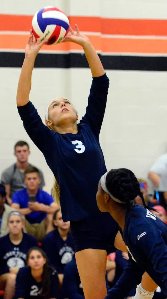 West York's Abbey James sets the ball earlier this