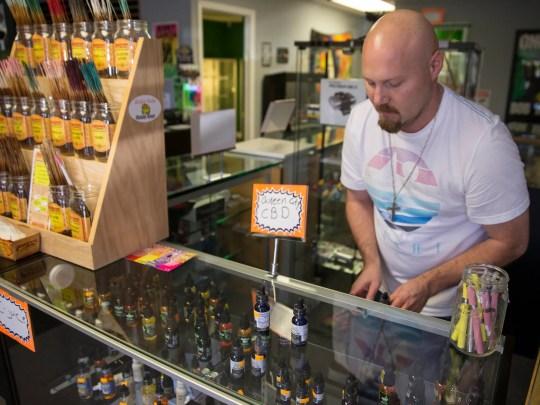 Jeff Shelton, co-owner of Happy Daze, a smoke shop