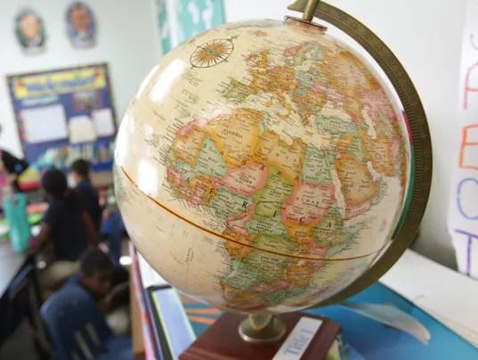 Globe in classrom