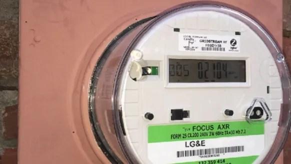 An LG&E smart meter.