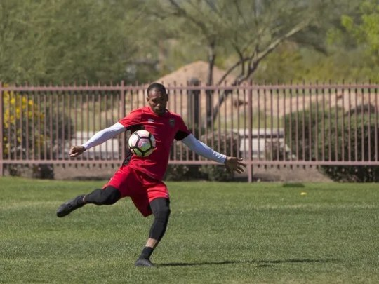 Mid fielder for the Phoenix Rising FC soccer team Matt