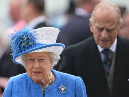 Queen Elizabeth II and Prince Philip at Epsom Derby