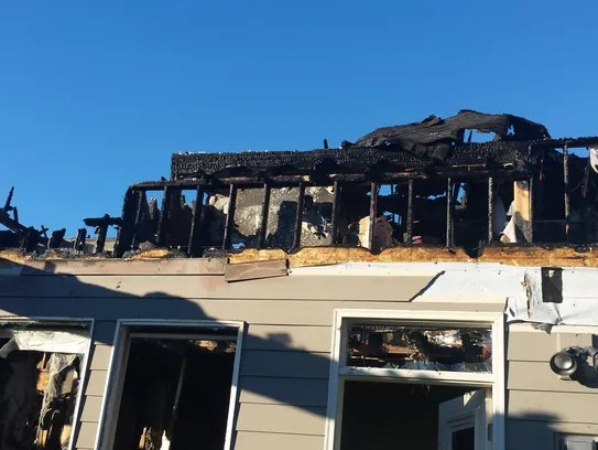 A fire destroyed a house on Rambeau Lane Thursday evening.